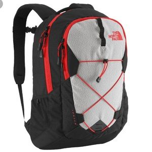 The North Face Jester Day Pack- Black/ Fiery Red